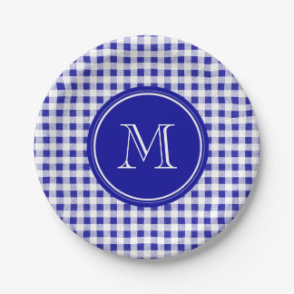 blue and white gingham plates. Black Bedroom Furniture Sets. Home Design Ideas