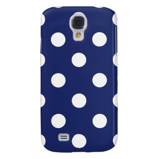 Navy Blue and White Polka Dot Pattern