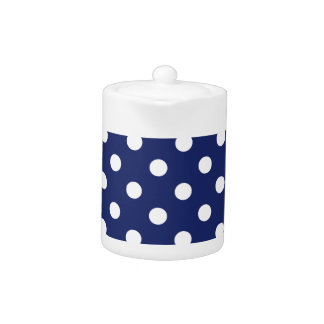 Navy Blue and White Polka Dot Pattern