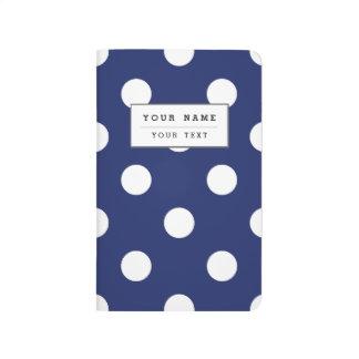 Navy Blue and White Polka Dot Pattern Journal