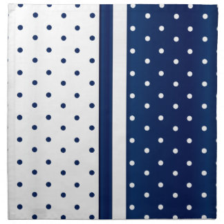 Navy Blue and White Polka Dots Napkin