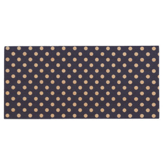 Navy Blue and White Polka Dots Pattern Wood USB 2.0 Flash Drive