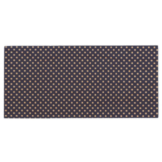 Navy Blue and White Polka Dots Pattern Wood USB 3.0 Flash Drive