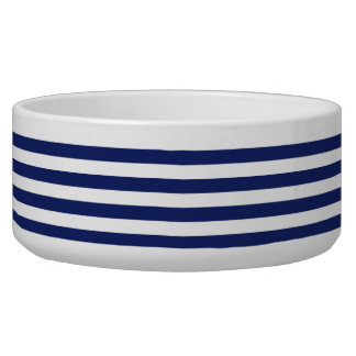 Navy Blue and White Stripe Pattern