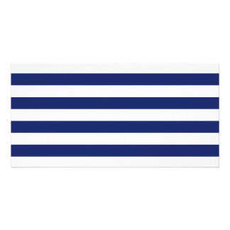Navy Blue and White Stripe Pattern Card