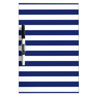 Navy Blue and White Stripe Pattern Dry-Erase Boards