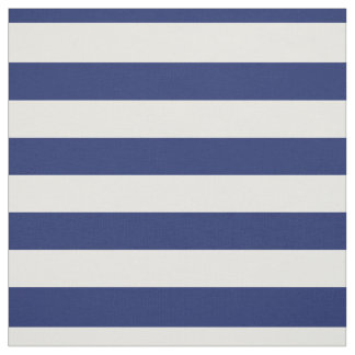 Navy Blue and White Stripe Pattern Fabric