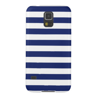 Navy Blue and White Stripe Pattern Galaxy S5 Case