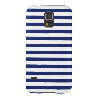 Navy Blue and White Stripe Pattern Galaxy S5 Cases