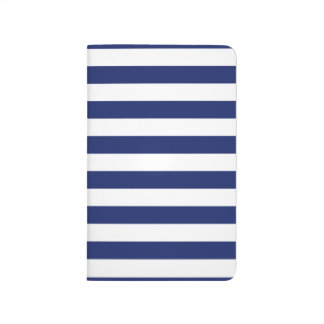 Navy Blue and White Stripe Pattern Journal