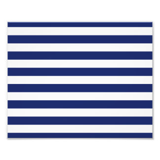 Navy Blue and White Stripe Pattern Photo Print