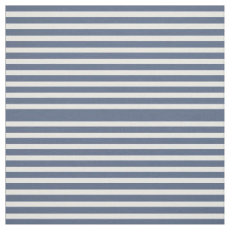 Navy Blue and White Striped Fabric