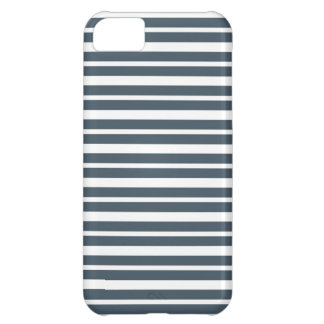 Navy Blue and White Stripes iPhone 5C Cover