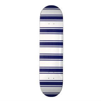 Navy Blue and White Stripes; Striped Skate Deck