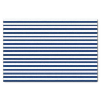 Navy Blue and White Stripes Tissue Paper