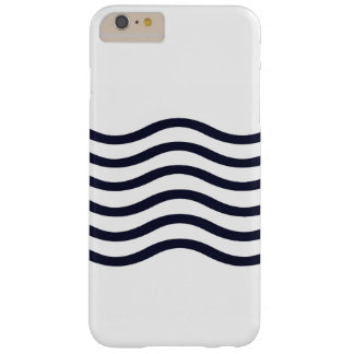 Navy Blue and White Waves Cell Phone Case