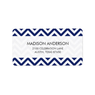 Navy Blue and White Zigzag Stripes Chevron Pattern