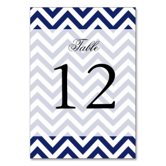 Navy Blue and White Zigzag Stripes Chevron Pattern Card