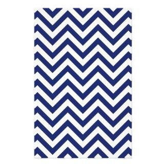 Navy Blue and White Zigzag Stripes Chevron Pattern Flyer