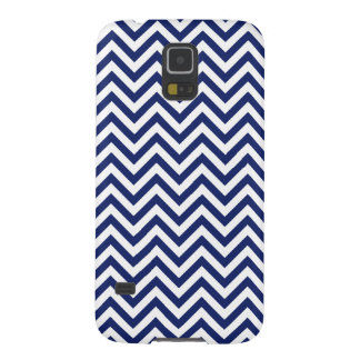Navy Blue and White Zigzag Stripes Chevron Pattern Galaxy S5 Cases