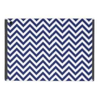 Navy Blue and White Zigzag Stripes Chevron Pattern iPad Mini Case