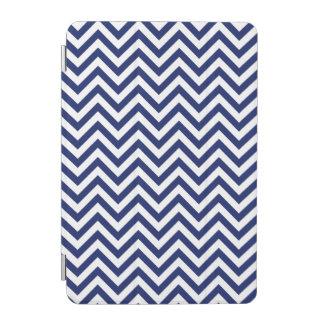 Navy Blue and White Zigzag Stripes Chevron Pattern iPad Mini Cover