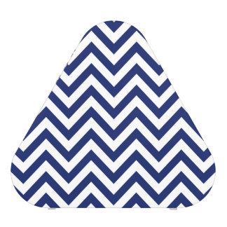 Navy Blue and White Zigzag Stripes Chevron Pattern Speaker