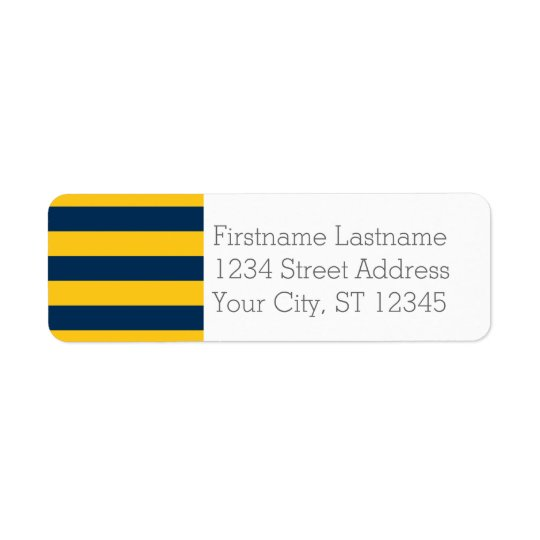Navy Blue and Yellow Rugby Stripes Custom Name