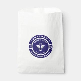 Navy Blue Beer Badge Bachelor Party Branding Favour Bag