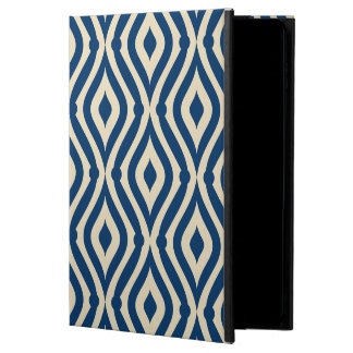 Navy Blue & Beige Teardrop Geometric Pattern Powis iPad Air 2 Case