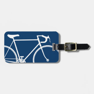 Navy Blue Bicycle Travel Bag Tag Template