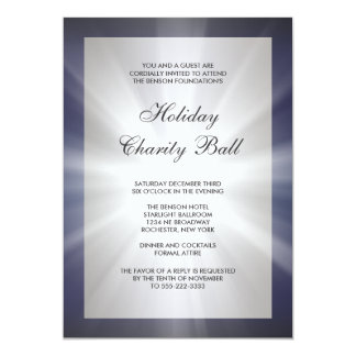Navy Blue Black Corporate Event Party Card