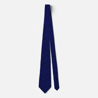Navy Blue Black Striped Men's Fashion Ties
