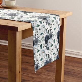 Navy Blue Bouquet Table Runner
