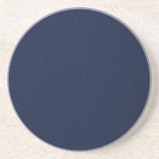 Navy Blue Bumpy Pattern Drink Coasters