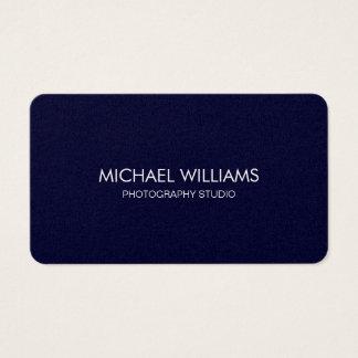 Navy blue business card