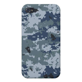 Navy Blue Camouflage iPhone 4 Speck Case Case For iPhone 4