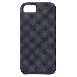 Navy Blue Checkered Flannel iPhone 5 Cover