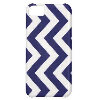 Navy Blue Chevron Case For iPhone 5C
