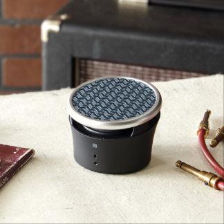 Navy Blue Chevron Pattern Bluetooth Speaker