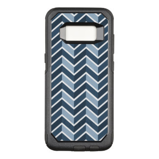 Navy Blue Chevron Pattern OtterBox Commuter Samsung Galaxy S8 Case