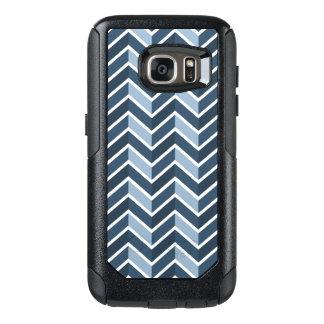 Navy Blue Chevron Pattern OtterBox Samsung Galaxy S7 Case