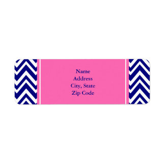Navy Blue Chevron Pattern with Hot Pink