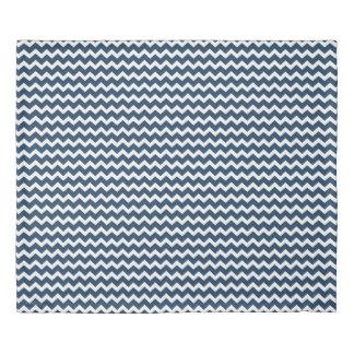 Navy Blue Chevron Stripes Duvet Cover