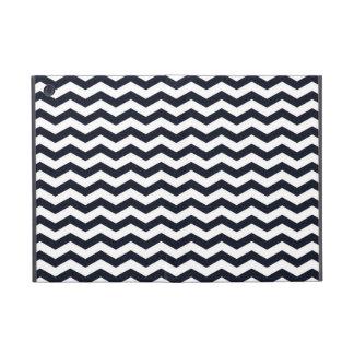 Navy blue chevron zig zag textured zigzag pattern cases for iPad mini