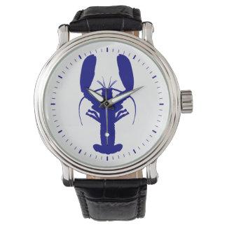 Navy Blue Coastal Lobster Watches