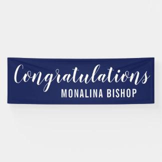 Navy Blue | Congratulations | Graduate Banner