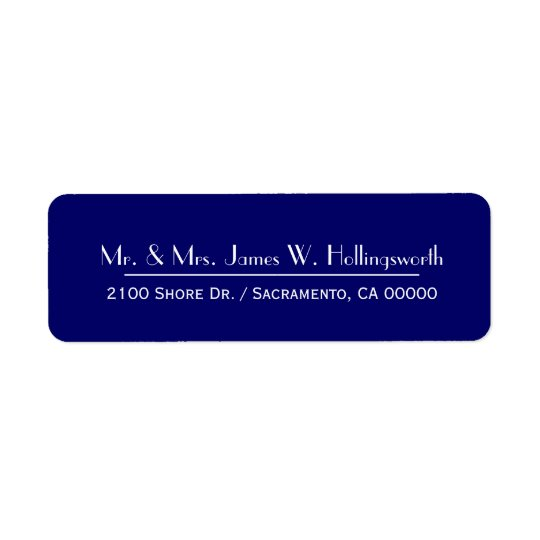 Navy Blue Custom Return Address Return Address Label