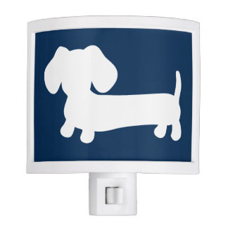 Navy Blue Dachshund Wiener Dog Night Light