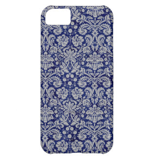 Navy Blue Damask Case For iPhone 5C